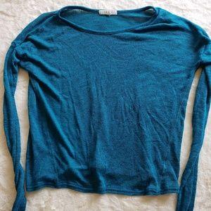 Tops - Sheer blue knit top
